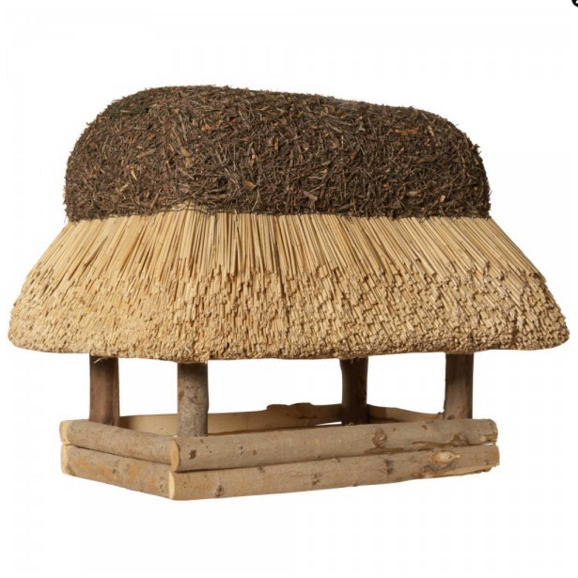 vogelhaus mit reetdach xxl eckig reetdachdecker junker. Black Bedroom Furniture Sets. Home Design Ideas